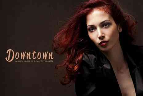 Downtown Nails, Hair and Beauty Salon - Full Head Colour or Half Head Highlights Plus Cut and Blow Dry - Save 57%