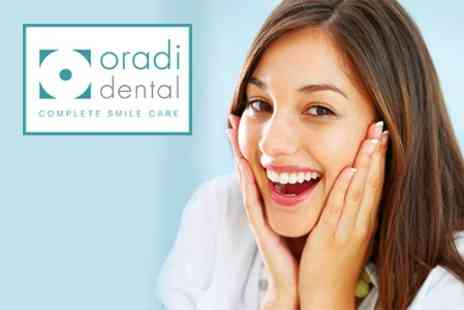 Oradi Dental - Home Teeth Whitening Kit and Dental Examination - Save 77%