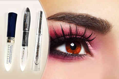 Cosmetics by Candy - Three piece Loreal makeup set inc 2 mascaras and lash serum - Save 59%
