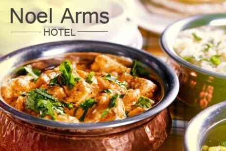 Noel Arms Hotel - Three Course Indian Meal With Poppadoms Rice and Drinks - Save 51%