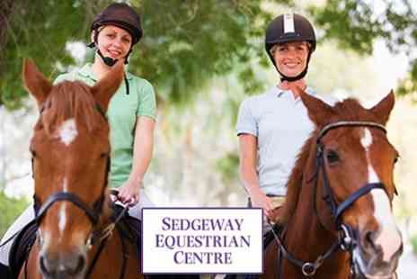 Sedgeway Equestrian Centre - Horse Riding: Beginners or Intermediate Lesson - Save 52%
