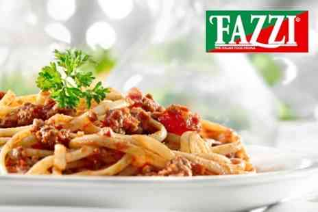 Fazzi - Pizza, Pasta or Risotto Dish With Wine For Two - Save 62%