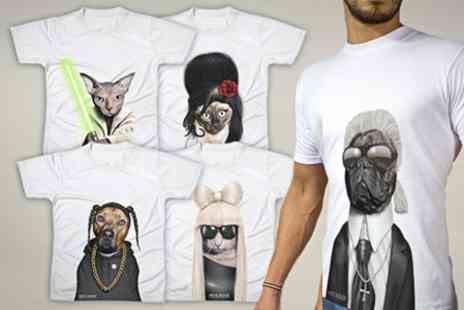 Printed Wardrobe - Pets Rock T Shirts - Save 50%