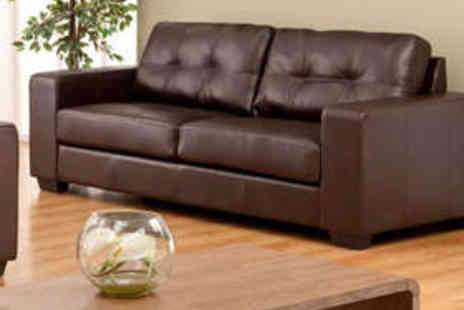 Premium Sofas - Two Seater Madeira Sofa in Brown or Black - Save 63%