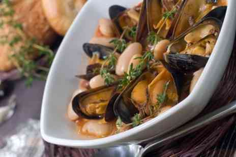 Marc and Daina's Restaurant - Two Courses Including Mussels and Steak For Two or Four - Save 52%