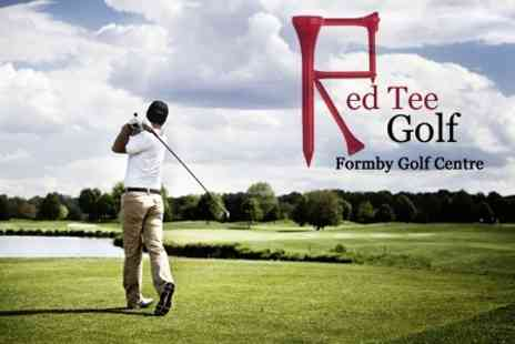 Red Tee Golf - Golf: 500 Driving Range Balls - Save 50%