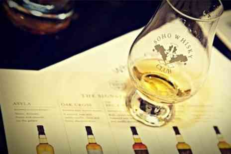 Soho Whisky Club - Whisky Tasting Session With Five Drams and Taste Pairings - Save 50%