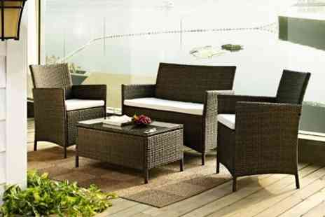 GRS Global - Rattan Garden Table and Chairs Set - Save 67%