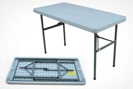Folding Tables UK - Rectangular 4ft Folding Portable Table - Save 30%
