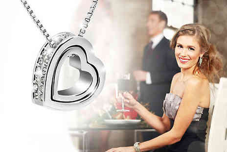 AMA Gifts - This gorgeous crystal heart pendant - show her your love - Save 77%