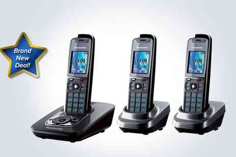 Box Limited - Panasonic three phone digital cordless answering system - Save 51%