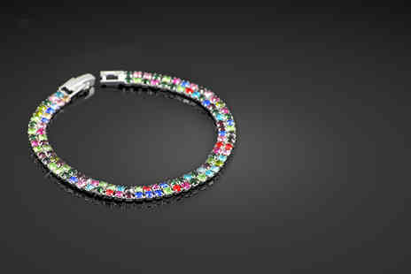 Oodlebee - Pair of friendship bracelets made with Swarovski Elements in a choice of colours - Save 80%
