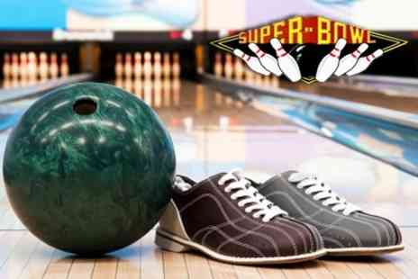 Mansfield Superbowl - Bowling for Four People with a Burger and a Drink Each for £15 - Save 69%