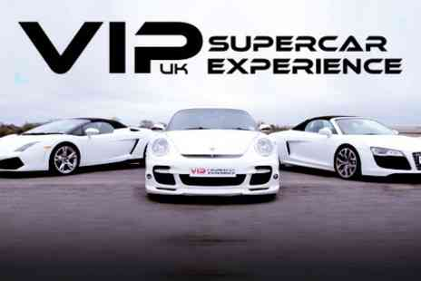 VIP UK Experience Days - Supercars Three Laps in One Car or Nine or Twelve Laps - Save 35%
