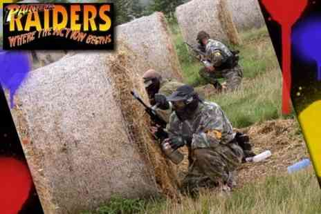 Paintball Raiders - Paintball For Two, Five or Ten With 100 Rounds and Hotdog Each - Save 66%