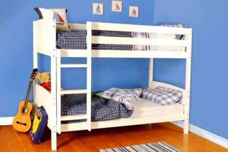Sleep Softly - Solid Pine Bunk Bed With Mattresses - Save 60%