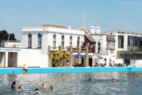 Lymington Sea Water Baths - Day Entry to Baths for Two Adults and Two Children - Save 50%