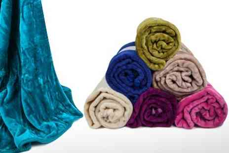Textiles Direct - Faux Mink Throws in Choice of Colours - Save 55%