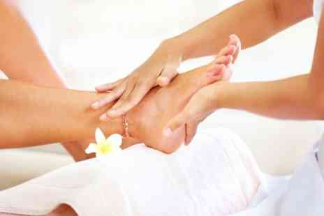 Discover Beauty - Leg and Foot Massage Plus Nail File and Polish - Save 53%
