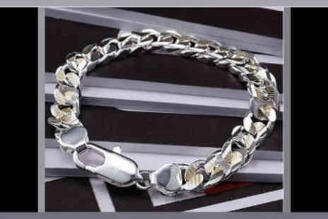 ChainzJewellery.com - Mens Sterling Silver Plated Bracelet - Save 80%