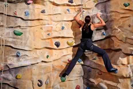 Avertical World - Two Indoor Climbing Beginner Lessons With Year Pass For One - Save 71%