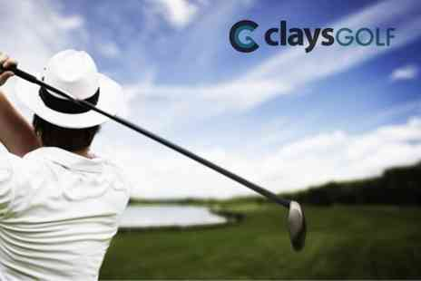 Clays Golf - Driving Range Session For One - Save 80%