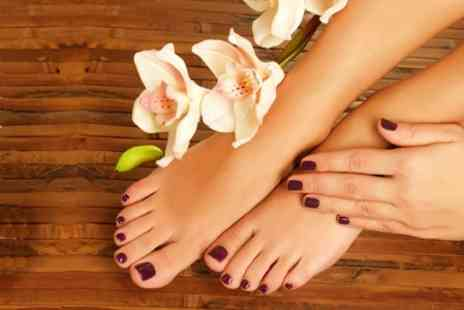 Shabby to Chic - Shellac Manicure or Pedicure or Both - Save 60%