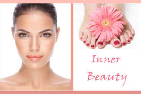 Inner Beauty - Deluxe Pedicure and Eyebrow Threading Treatment - Save 52%