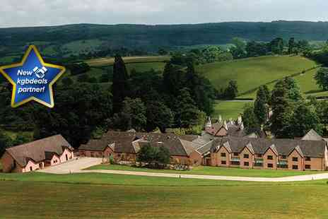 Cwrt Bleddyn Hotel - One night Welsh spa escape for two people including breakfast- Save 46%