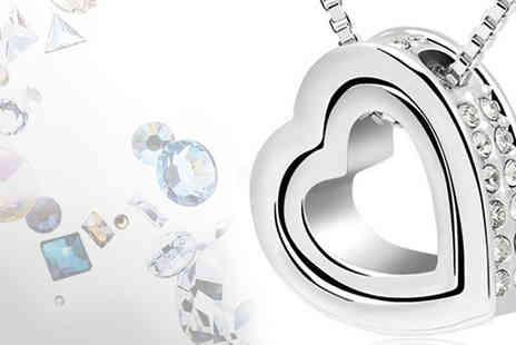 Coco Beach - This gorgeous swarovski elements heart pendant - Save 75%