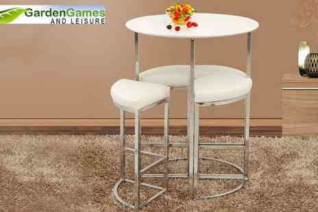 Garden Games - Orbit 4 Stools and Table Set - Save 67%
