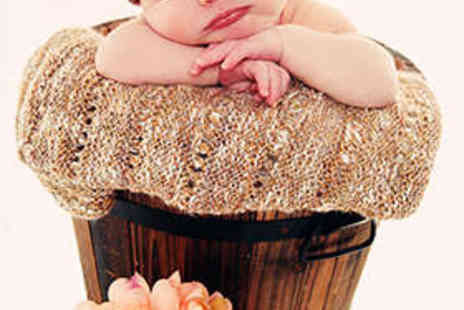 CP Photography and Styling - Newborn Photo Shoot Including Five Images on Disc - Save 79%