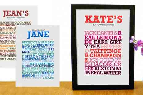 Find Me a Gift - Personalised A4 List Print - Save 50%