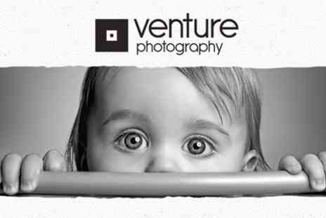 Venture Photography - Family Photoshoot For Up To 20 People With One Framed - Save 50%