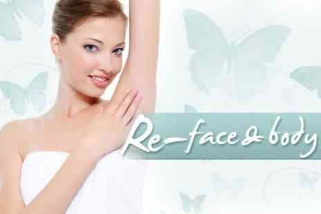 Re-Face & Body - Six IPL Hair Removal Sessions on One Medium Area or Two Small Areas - Save 82%