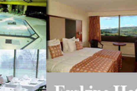 Erskine Bridge Hotel - One Night Bed and Breakfast for Two and a Bottle of Sparkling Wine - Save 64%