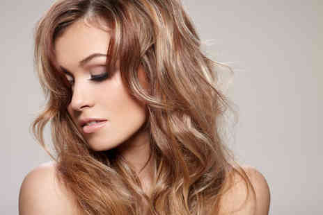 A M One - 1/2 head of highlights or full tint, cut & blow dry - Save 83%