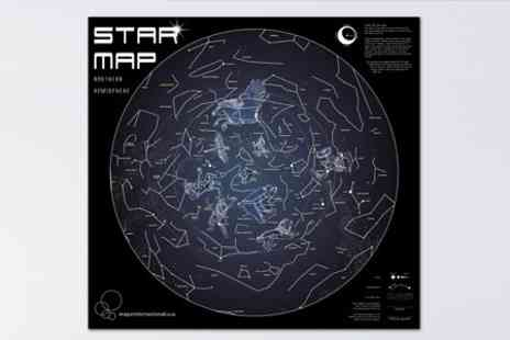 Maps International - A1 Glow in The Dark Star Maps - Save 56%