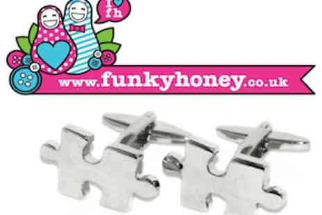 Funky Honey - A Choice Of Fun Cufflinks For Fathers Day - Save 50%