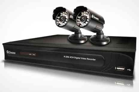 Box.co.uk - Swann Digital CCTV System with 500GB Digital Recorder and Two Security Cameras - Save 39%