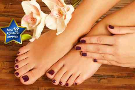 Salon Bellezza - CND Vinylux or Shellac manicure and pedicure - Save 50%