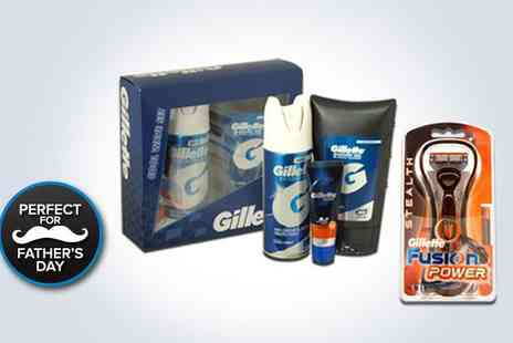 kgbdeals beauty - Gillette fusion power stealth, with a Cool Wave gift set - Save 50%