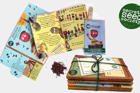 Secret Seed Society - 4 Vegetable Seed Growing Packs and Story Books for Kids - Save 40%