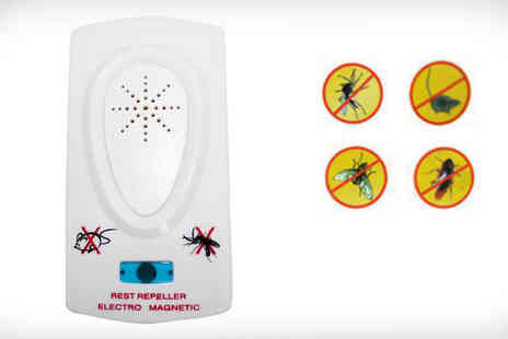 Merx Online - Enjoy a quiet, dream summer without the iconic mosquitoes, using this incredible Ultrasonic Pest Repellent - Save 68%
