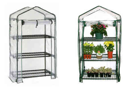 Better Bargains - 3 Tier Greenhouse with Removable Cover - Save 50%
