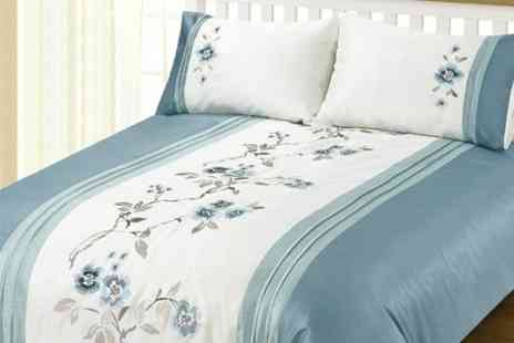 Dynergy - Embroidered Duvet Set in Choice of Designs - Save 58%