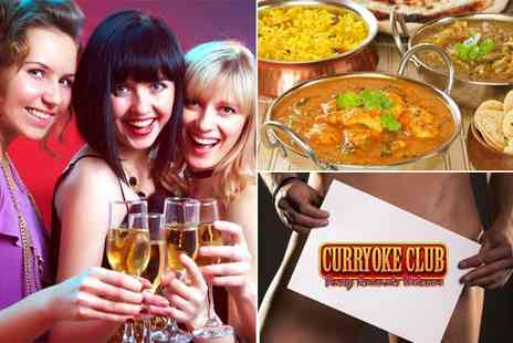 Curryoke Club - Buff Butlers party night including a four course Indian banquet - Save 60%