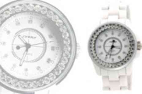 AMA Gifts - A Sinobi Ceramic Rhinestone watch - Save 74%