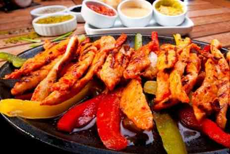 Favorit - Nachos and Fajita Sizzler With Wine For Two - Save 53%