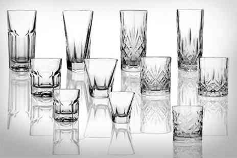 EasyGift Products - RCR Glassware Set of Six Hi Ball Tumblers or Whiskey Glasses - Save 70%